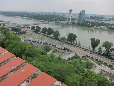 Danube from castle Bratislava