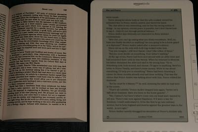 Font comparison: Kindle vs. soft-cover