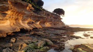 Painted Cliffs on Maria Island, Tasmania