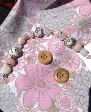 Lining, keychain beads and buttons