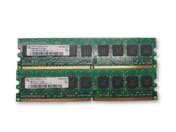 2x INFINEON 1GB SERVER DIMM DDR2 2Rx8 PC4200E 2Rx8 HYS72T128020HU--3.7-A