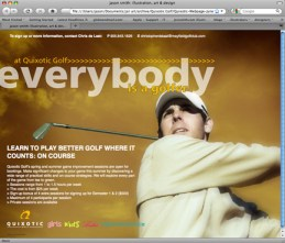 Quixotic Golf, website (2008)