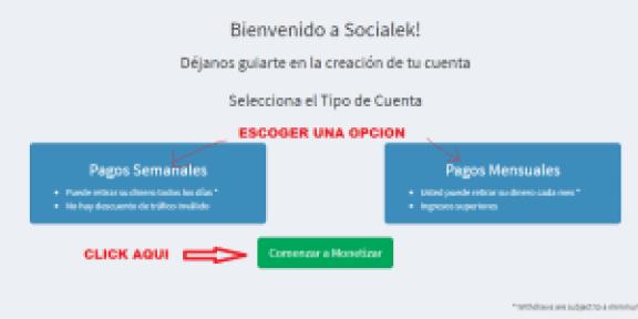 Socialek Tipo de cuenta