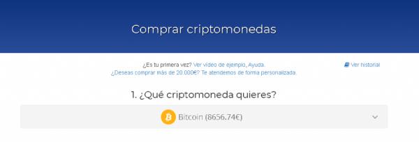 Bit2Me Comprar criptomonedas