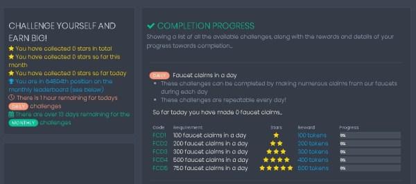 Coinpot Desafíos