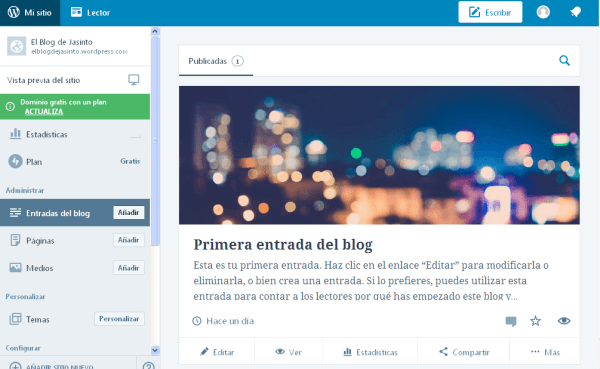 WordPressCom Crear Blog