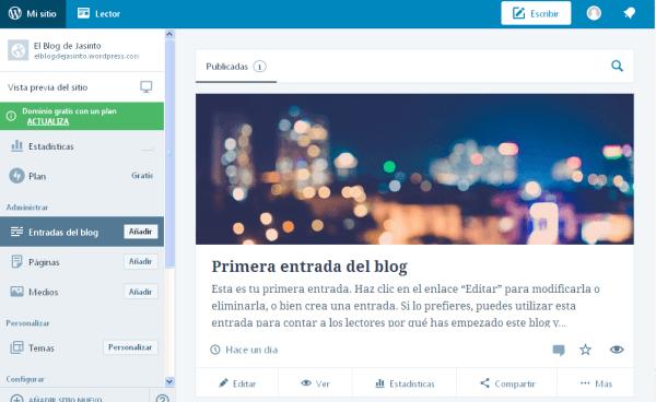 WordPressCom Crear Blog
