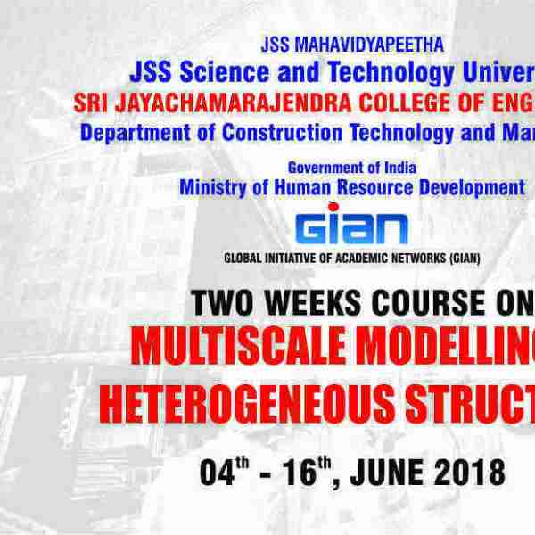 """GIAN course on  """"Multi scale Modelling of Heterogeneous Structures"""""""