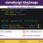 JavaScript Quiz - Function can be used as class using new operator