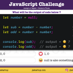 JavaScript Quiz – What happens when adding or subtracting null value - JS Startup