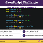 JavaScript Quiz - array single value comparison can be possible - JS Startup