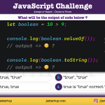JavaScript Quiz - boolean return value true with string or not - JS Startup