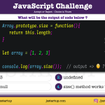 JavaScript Quiz - can array have the size method like a set - JS Startup