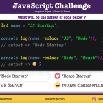 JavaScript Quiz - does replace really work on replaced string - JS Startup