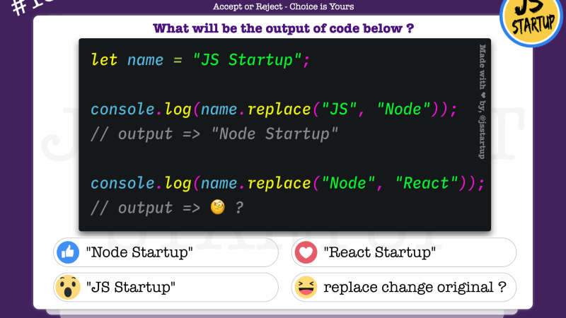 JavaScript Quiz – does replace really work on replaced string