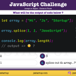 JavaScript Quiz - does the slice method replace array element - JS Startup