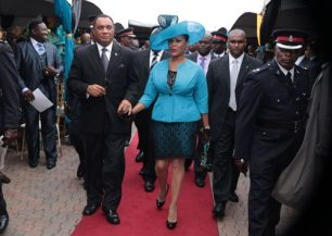 Prime Minister and wife, The Bahamas Weekly