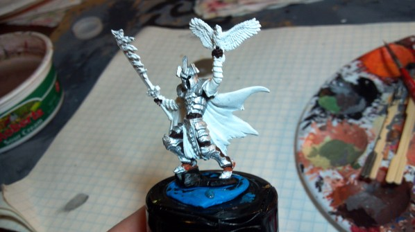 Knight with bird of prey WIP. Click to Enlarge.