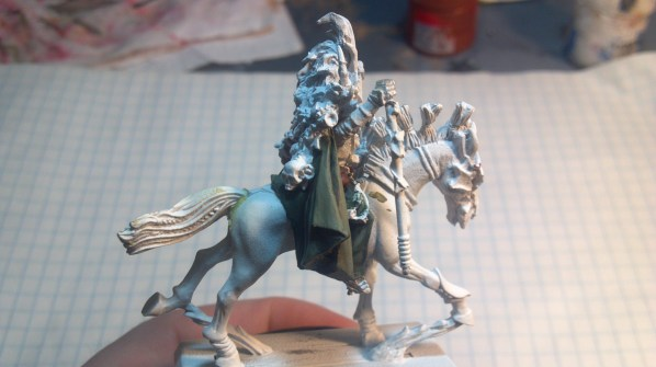 Cloak and some leather parts painted. Click to Enlarge.