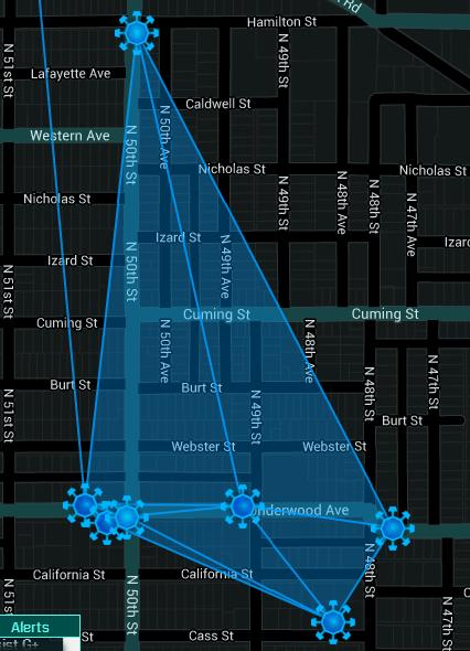 Fields over the neighborhood. Ingress Resistance agent @JST3P.