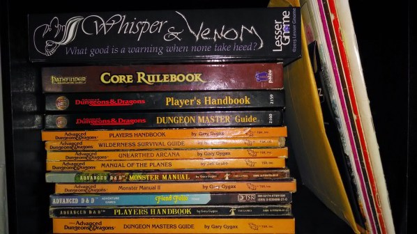 My RPG Gaming Library. Click to Enlarge.