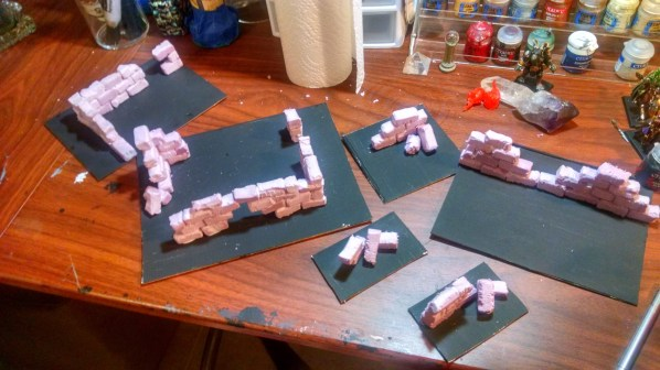 Complete set of ruins game terrain. Click to Enlarge.