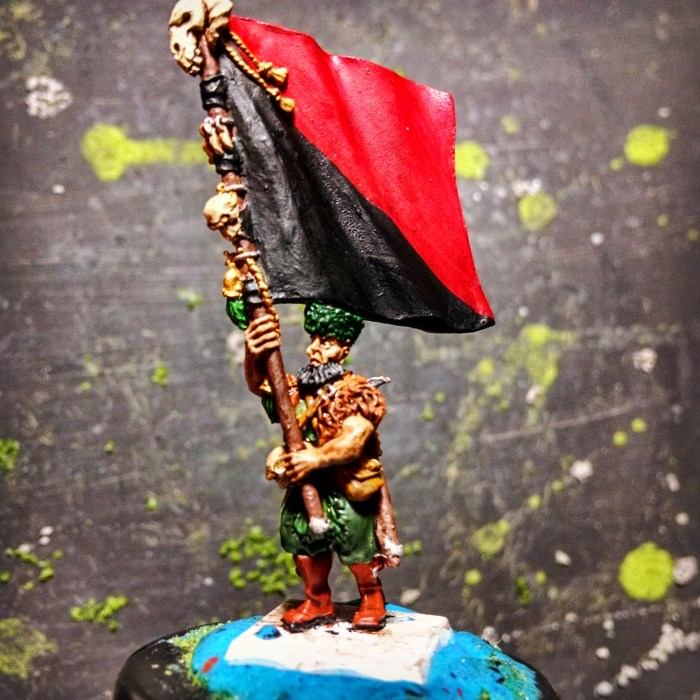 Cossack flag bearer hand painted miniature. Click to Enlarge.