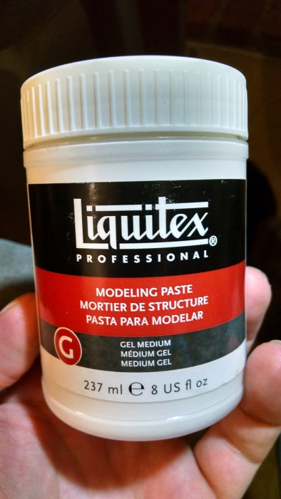 Liquitex Modeling Paste. Click to Enlarge.