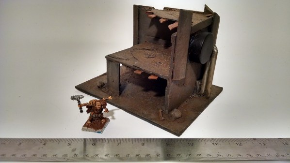 Ruined Building Terrain Corner Piece. Click to Enlarge.