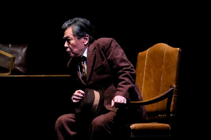 "Morio Kazama in Arthur Muller's ""Death of a Salesman"" at KAAT"