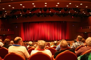 Audiences at a theatre