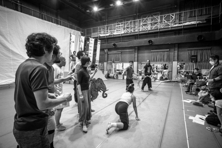 Mahabharata rehearsal photo 1 with Koike