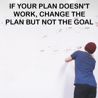 No business without plan. And having also a plan b is even better