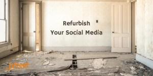 Image of a room needing refurbishment - construction business social media