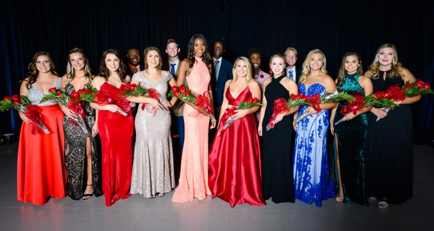 The Top 15 Homecoming candidates were introduced at the 2019-20 Homecoming Showcase on Tuesday, Oct. 8. JSU students were able to learn more about the candidates and their philanthropy choices. (Grace Cockrell/JSU)