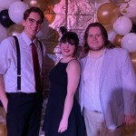 From left to right, Eric Cline, Alex Templin and Noah Davis attend the Wesley Foundation Gatsby-themed party. (Anna Marker/The Chanticleer)