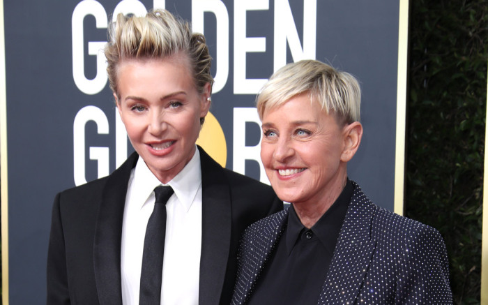 Ellen DeGeneres, pictured right, won the Carol Burnett Award for Achievement in Television. (Courtesy of Footwear News)