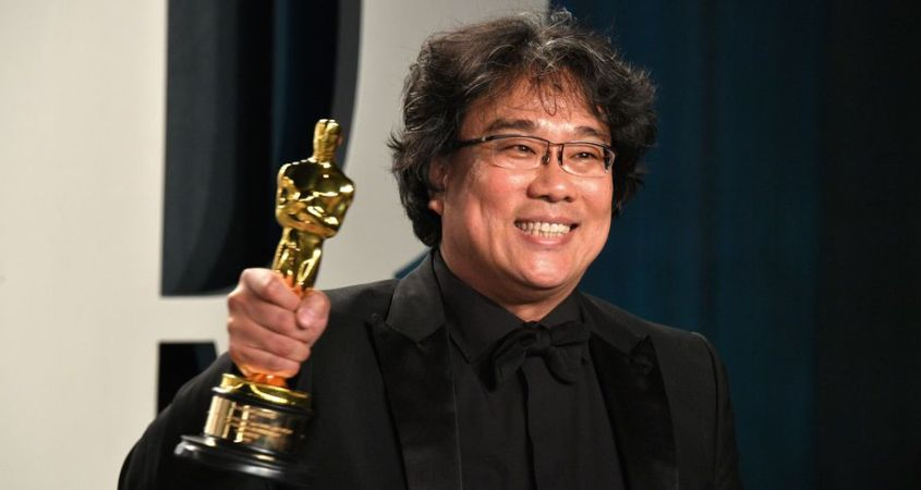 "Pictured above is director and writer of the new drama-mystery film ""Parasite"", Bong Joon-ho. ""Parasite"" was released on October 11 of this past year, and has been rated a 92% audience score and a 99% on the tomatometer on rottontomatoes.com. (George Pimentel/Getty Images)"