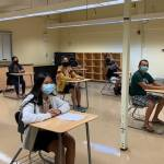 Students attending class in Guam, both socially distanced and masked. (Guam Department of Education)