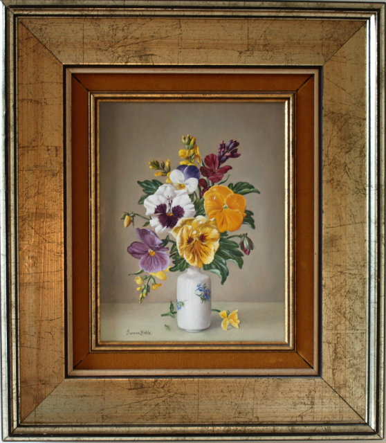 SOLD: Pansies and Wallflowers – James Noble