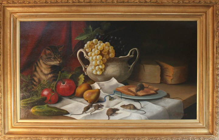 Still life with Cat and Mice – James B Russell