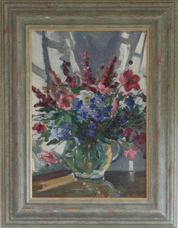 Flowers in sunlight – Marjorie Mostyn