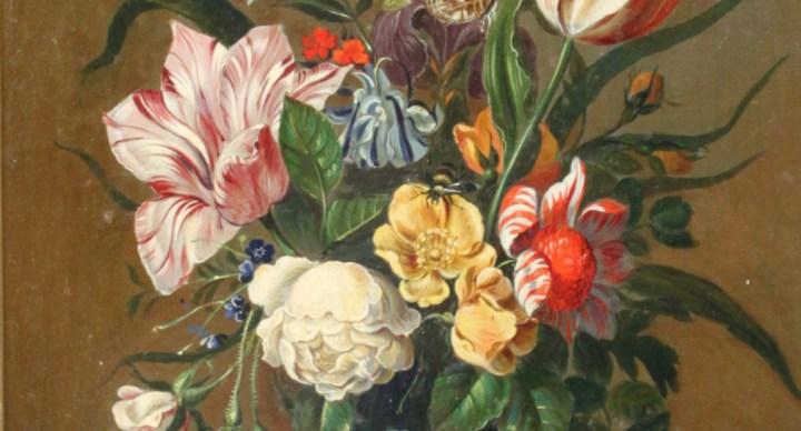 SOLD: Still life of tulips and other flowers – Frederick Victor Bailey