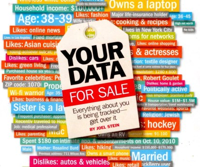 There is no privacy. Your data for sale