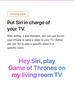 Siri can play video on your TV