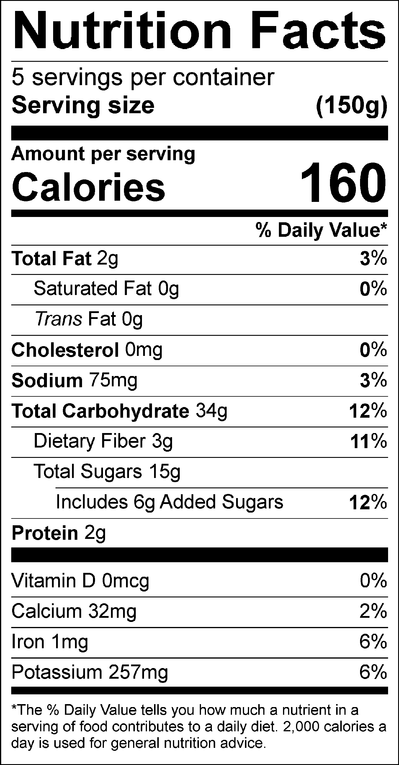 31 Nutrition Label For Potatoes