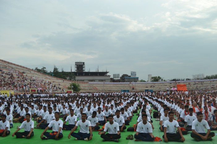 21st June JS Yog International Yoga Day Yashwant Stadium, Nagpur CM Devendra Fadnavis Union Minister Nitin Gadkari_114