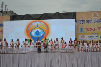 21st June JS Yog International Yoga Day Yashwant Stadium, Nagpur CM Devendra Fadnavis Union Minister Nitin Gadkari_117