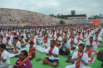 21st June JS Yog International Yoga Day Yashwant Stadium, Nagpur CM Devendra Fadnavis Union Minister Nitin Gadkari_134