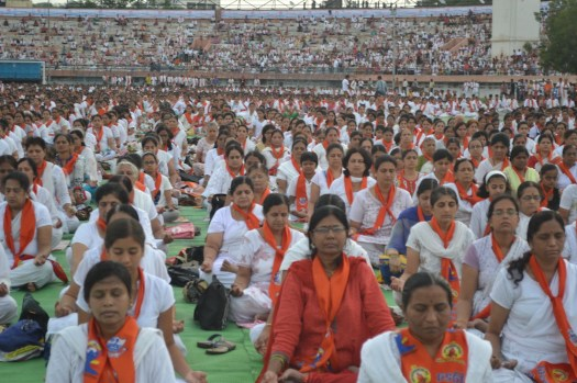 21st June JS Yog International Yoga Day Yashwant Stadium, Nagpur CM Devendra Fadnavis Union Minister Nitin Gadkari_31
